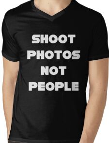 Shoot Photos Not People Mens V-Neck T-Shirt