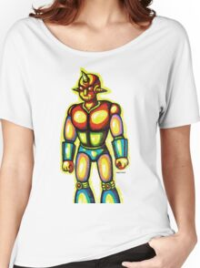 Japanese Robot Marker Drawing  Women's Relaxed Fit T-Shirt