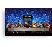 The Doctor Lost in the last Supper Canvas Print