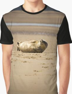 Cute Chuckling Seal Pup Graphic T-Shirt
