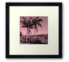 Palms Trees in Africa - Pink Framed Print