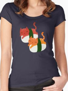Sushi Cats Women's Fitted Scoop T-Shirt