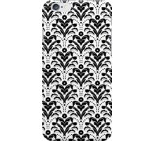 Elegant Art Deco Damask Black and White iPhone Case/Skin