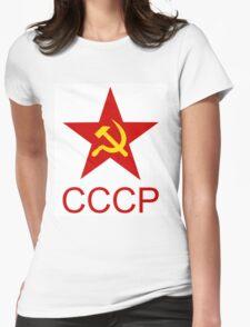 Soviet Red Star, T-Shirt Design Womens Fitted T-Shirt