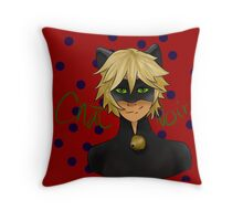Chat Noir Throw Pillow