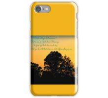 Reflections At The End of the Day iPhone Case/Skin
