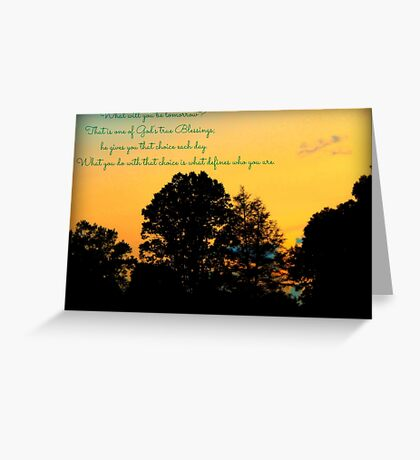 Reflections At The End of the Day Greeting Card
