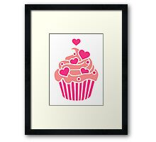 Cupcake hearts Framed Print