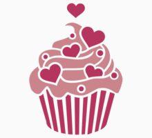 Cupcake hearts One Piece - Short Sleeve