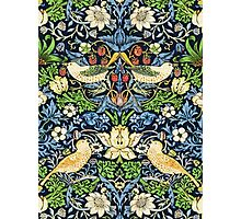 Art Nouveau Bird and Flower Tapestry Photographic Print