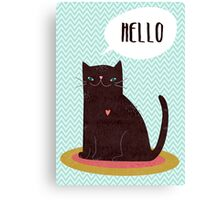 Hello Catty Canvas Print