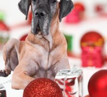 Great Dane Dog with Christmas Ornaments Gifts  Sticker