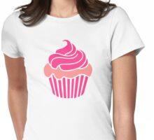 Pink delicious cupcake Womens Fitted T-Shirt