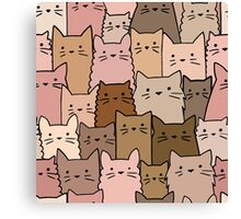Silent Cats Earthly Canvas Print