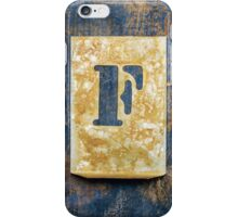 Letter F iPhone Case/Skin
