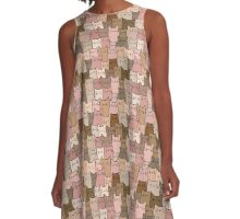 Silent Cats Earthly A-Line Dress