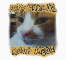 Kitten me right Meow?! (Block Letters) Kids Clothes