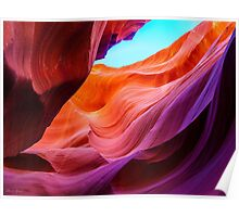 The purple rock at Antelope Canyon, Arizona Poster