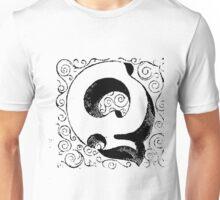Block Alphabet Letter Q Unisex T-Shirt