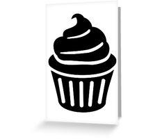 Black cupcake logo Greeting Card