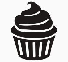 Black cupcake logo by Designzz