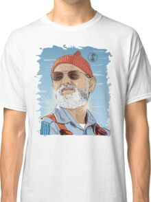 Bill Murray as Steve Zissou Illustrated Portrait Classic T-Shirt
