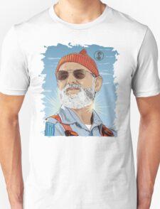 Bill Murray as Steve Zissou Illustrated Portrait T-Shirt