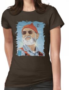 Bill Murray as Steve Zissou Illustrated Portrait Womens Fitted T-Shirt