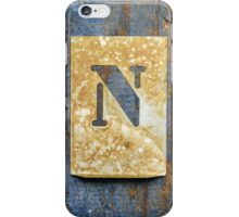 Letter N iPhone Case/Skin