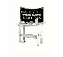 Mrs. Lovett's Meat Pies Art Print