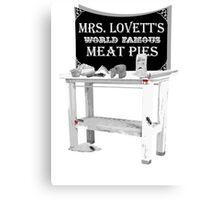Mrs. Lovett's Meat Pies Canvas Print