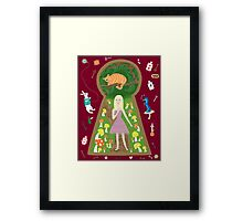 Alice (Fairy Tale Fashion Series #4) Framed Print