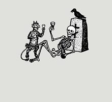 Spooky Skeleton Drinking Some Wine Unisex T-Shirt