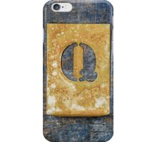 Letter Q iPhone Case/Skin