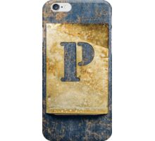 Letter P iPhone Case/Skin