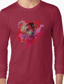 Boriken Taino Heart Watercolor Splash Long Sleeve T-Shirt