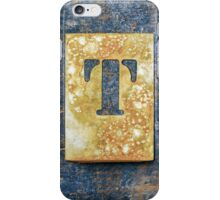 Letter T iPhone Case/Skin