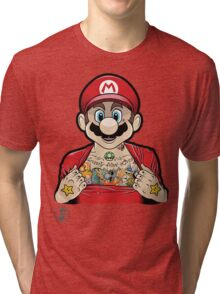 Mario's Got Ink Tri-blend T-Shirt