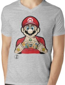 Mario's Got Ink Mens V-Neck T-Shirt