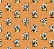 Cubone Pattern Pokemon by Claire Hawken