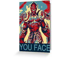 Jaraxxus obey Greeting Card