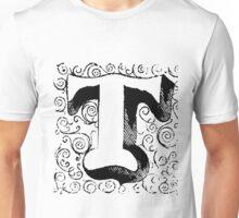 Block Alphabet Letter T Unisex T-Shirt