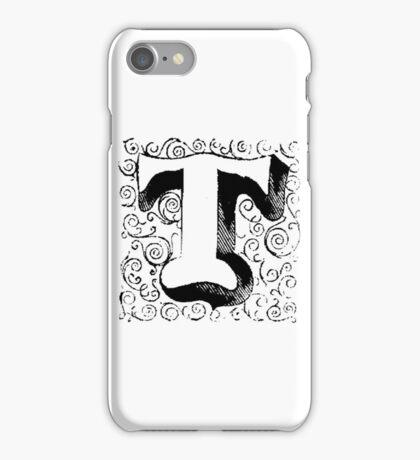 Block Alphabet Letter T iPhone Case/Skin