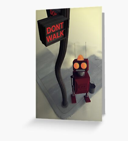 Don't Walk Greeting Card