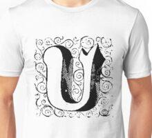 Block Alphabet Letter U Unisex T-Shirt