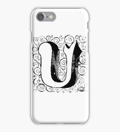 Block Alphabet Letter U iPhone Case/Skin