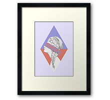 Blindfold Framed Print