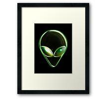 Metal Alien Head 04 Framed Print