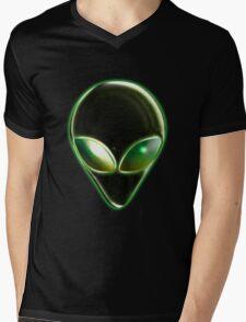 Metal Alien Head 04 Mens V-Neck T-Shirt