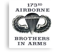 Jump Wings - 173rd Airborne - Brothers in Arms Canvas Print